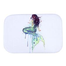 Mermaid Style Water-absorb Floor Bath Mat Toilet Room Coral velvet H9A5