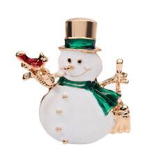 Pin Dress Scarf Handbag Accessory Stri Es_ Unisex Christmas Snowman Shape Brooch