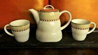 MCM Villeroy & Boch Porcelain Coffee/ Teapot & 2 Cups 'Switch 2' Retro set of 3