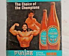 Old Rare Punjab Beer Mount Shivalik  Breweries Ltd  Metal Tin Sign Collectible