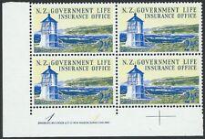NEW ZEALAND 1969 Lighthouse 2½c plate block # 1 1 MNH......................50196