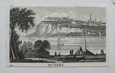 QUEBEC Kanada CANADA. Früher Stahlstich 1825