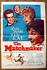 """""""THE MATCHMAKER"""" Dolly Levi as played by Shirley Booth - orig. 1958 poster!!"""