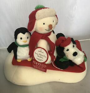 HALLMARK 2007 JINGLE PALS ~ SNOW WHAT FUN SLEDDERS ~ Animated Singing Snowman