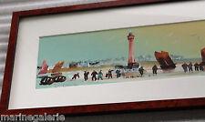 breton art phare tableau Bretagne aquarelle Ch. Cambier