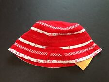 Nwt Gymboree Good Old Days 18-24 Months Cherry Mixed Print Trim Bucket Hat