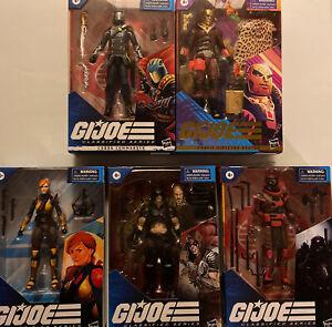 Lot Of 5 GI JOE Classified Series Cobra Commander DESTRO New Zartan & More L👓K