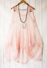 Moonshine Balloon Tunic Sleeve Tulle Transparent XL-XXL Layered look Pink New