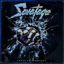 """SAVATAGE Power of the Night 12"""" LP Masterdisk German Pressing 1985 Heavy Metal"""
