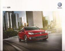 2012 12 VW GTI oiginal Sales brochure MINT