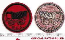 Old BSA  FELT Patrol Patch -  COVERED WAGON - B & W Thread Back