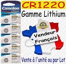Piles boutons au choix : CR1220 ou CR2032 CR2025 CR2016 CR2430 CR2450 Lithium 3V