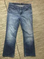 7 For All Mankind Women's High Waist Bootcut Jeans Size 30 Blue Cotton/Elastane