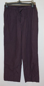 Brooks Brothers Red Navy Blue Plaid Men's Pajama Pants Cotton Size Large