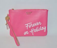 VICTORIA'S SECRET PINK FOREVER HOLIDAY WRISTLET CLUTCH MAKEUP BEAUTY BAG POUCH