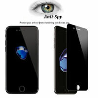 1x 9H Privacy Anti-Spy Tempered Glass Screen Protector for iPhone X 6 7 8 Plus