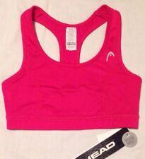 HEAD Womens Medium Impact Sports Bra, X-Small, Pink, NWT