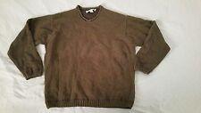 Mens Tommy Bahama Crewneck Sweater Brown M Medium Cotton