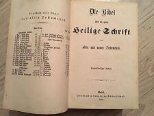 Antique 1869 German Bible bibel Old New Testaments Heilige Schrift