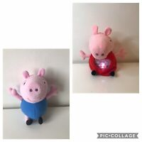 Peppa Pig Soft Toy Light Up Heart Night Light with Lullaby & George Plush