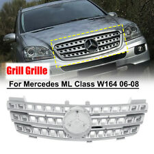 Front Upper Hood Silver Chrome Grill Grille for Mercedes ML Class W164 06-08