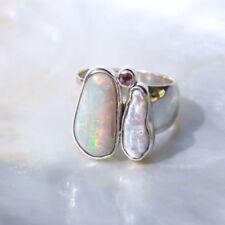 Ringe mit Opal Edelsteinen echten Innenvolumen (18,1 mm Ø) natürliche