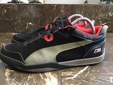 Mens Puma Bmw Sz9 Black Gray Red Sport Shoes