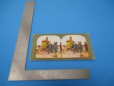 1905 Stereoview T.W.Ingersolle #164 Russian Drinking Cart & Japanese At Dalny