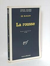 ED McBAIN - LA ROUSSE - SERIE NOIRE N°1295 - 1969