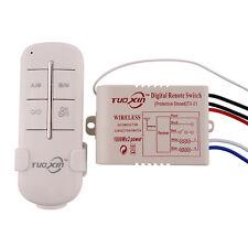 110V 2 Channels Way Wireless Lamp Wall New Switch Splitter Box Remote Control