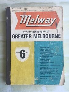 Street Directory Of Greater Melbourne ~ MELWAY - 1973 ~ Edition 6 SoftCover