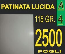 2500 FOGLI CARTA PATINATA LUCIDA STAMPANTI LASER VOLANTINI 115 GR A4