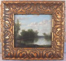 hsp huile sur panneau bois 19eme de L.Cholet peinture tableau