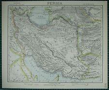 1883 LETTS MAP ~ PERSIA KHUZISTAN FARSISTAN KERMAN AFGHANISTAN KHORASAN