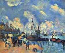 A4 photo PAUL CEZANNE 1839 1906 la Seine à Bercy 1878 imprimé Poster
