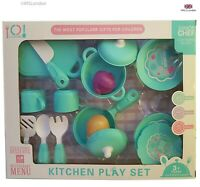 Children Kids Toddler  kitchen play set 16 pieces come in a nice gift box