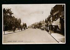 Cheshire HOYLAKE Market St  Holmes Library 1936 PPC by Valentine