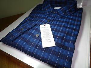 Lacoste Herren Regular Fit gestreift kariert Popeline Shirt FR 42 Large RRP: £ 100