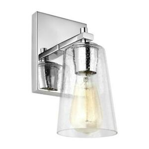 5-in Single Light Sconce Incandescent LED Wall Mount Standard Shade in Chrome