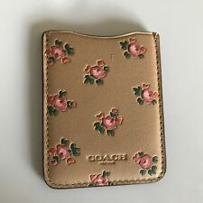 COACH Beechwood MULTI,Floral, BOXED PHONE POCKET STICKER CARD HOLDER WALLET