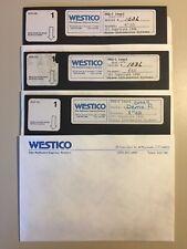 "Vintage 1980 WESTICO ESQ 1-LEGAL 8"" Floppy Disks 1-3 VHTF"