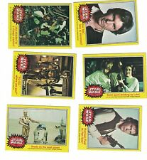 27 Star Wars 1977 Series 3 Yellow Borders Cards & 7 Stickers