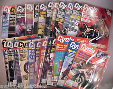 Cycle Magazine - LOT of 26 diff. magazines from 1986, 1989, 1990, 1991