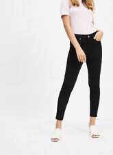 Ex Miss Selfridge Mid Rise Skinny Black Jeans SHORT REG LONG Size 4-16 RRP £28