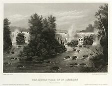 MINNEAPOLIS - SAINT-ANTHONY-FÄLLE - Meyer's Universum - Stahlstich 1854