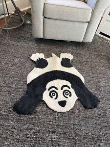 Panda Shape 3'0''x 2'8'' ft 100% Felt woolen Area Rug ~kids Nursery ~