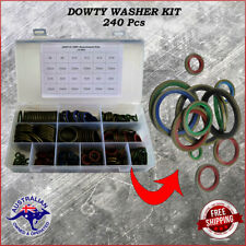 240 Piece Dowty Washer Kit Bonded Oil seal Colour Coded 12 sizes 6 mm - 30 mm