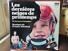 FRANCO MICALIZZI LES DERNIERES NEIGES DE PRINTEMPS LP OST FRANCE