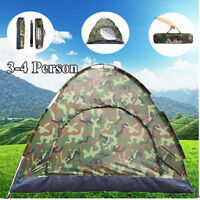 4 Person Family Dome Sleeping Tent Camping Equipment Gear Hiking Picnic