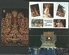 3 Holy card postale antique de la Semana Santa de España  santino estampa